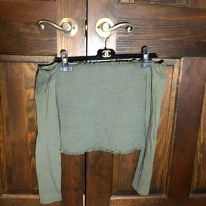 Hollister Off the shoulder Long Sleeve Shirt